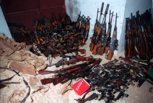 Confiscated weapons